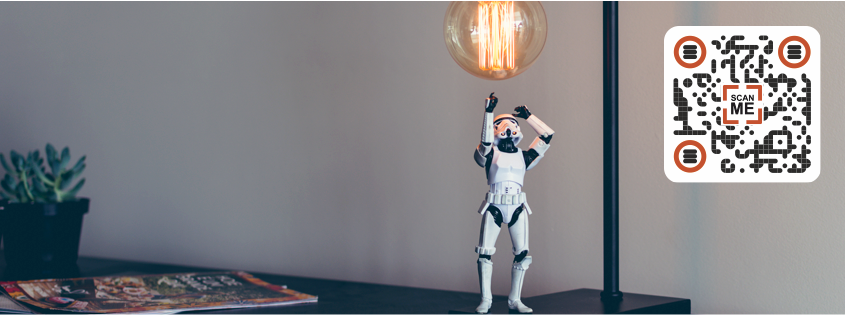 Star Wars stormtrooper and a bulb.
