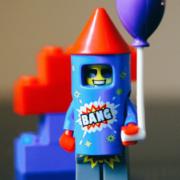 Lego toy bang rocket.